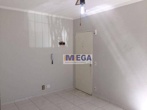 Imagem 1 de 17 de Apartamento Com 2 Dormitórios, 60 M² - Venda Por R$ 210.000 Ou Aluguel Por R$ 900/mês - Jardim Paulicéia - Campinas/sp - Ap5514