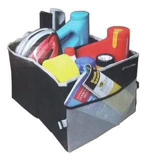 Bolso Organizador Shoppy Para Baul De Vehiculos Autos Camionetas Accesorio De Auto Plegable Mediano Color Negro