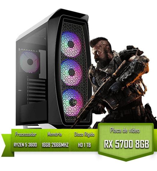 Pc Gamer Amd Ryzen 5 3600 Rx 5700 Mem 8gb Ddr4 16gb Hd 1tb