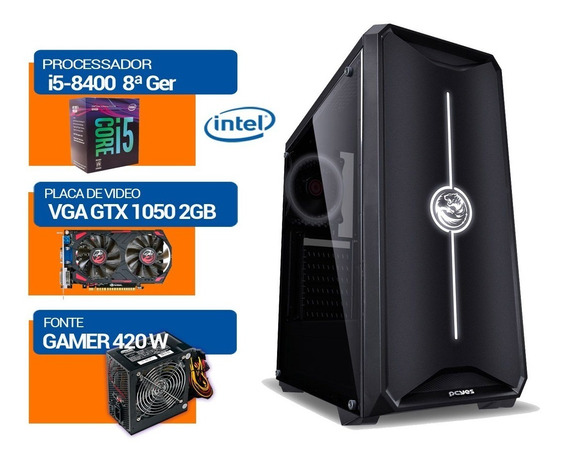 Pc Gamer Intel I5-8400 8ª Ger, Gtx1050 Hd500gb,16gb Memddr4