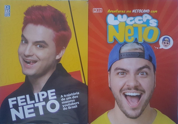 Luccas Neto + Felipe Neto Kit 2 Livros Frete 18