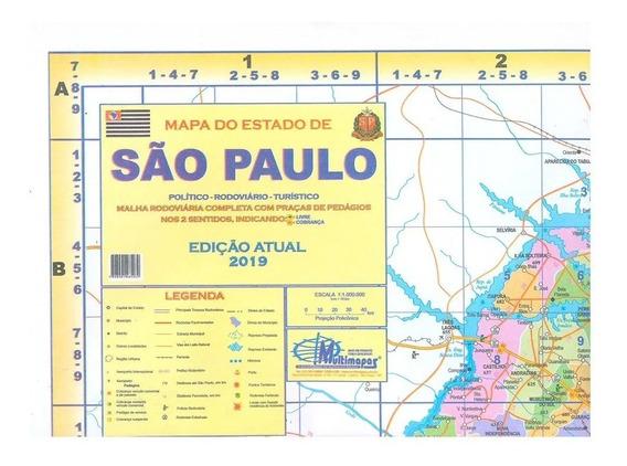 Mapa Do Estado De São Paulo Político E Rodoviário