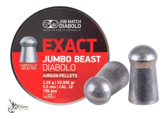 Diabolos Jsb Beast Jumbo Cal .22 34 Granos Con 150