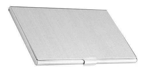 Tarjetero Slim Aluminio De Bolsillo Tarjetas Presentacion