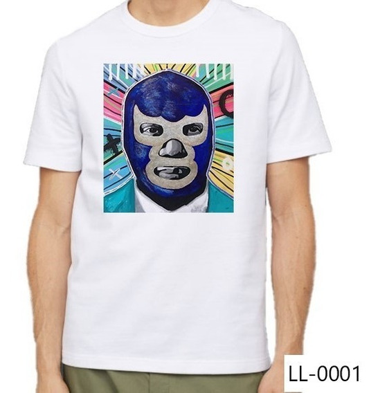 Playera Blue Demon Lucha Libre Camiseta Casual