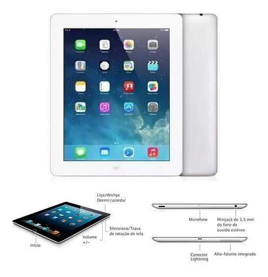 iPad Quarta Geração Wi-fi 32gb Branco Modelo A1458