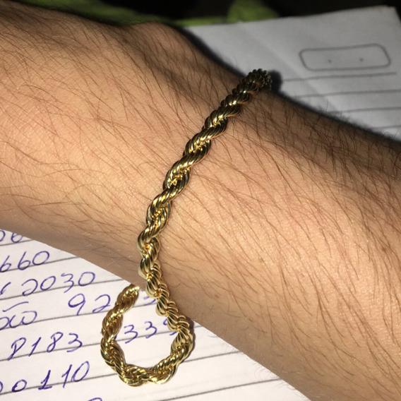 Pulseira De Ouro 18k Elo Português 3mm 18cm
