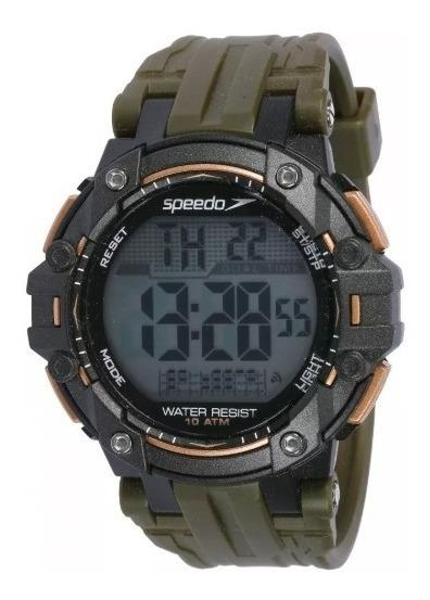 Relógio Masculino Speedo Digital 80641g0evnp1 -verde Militar
