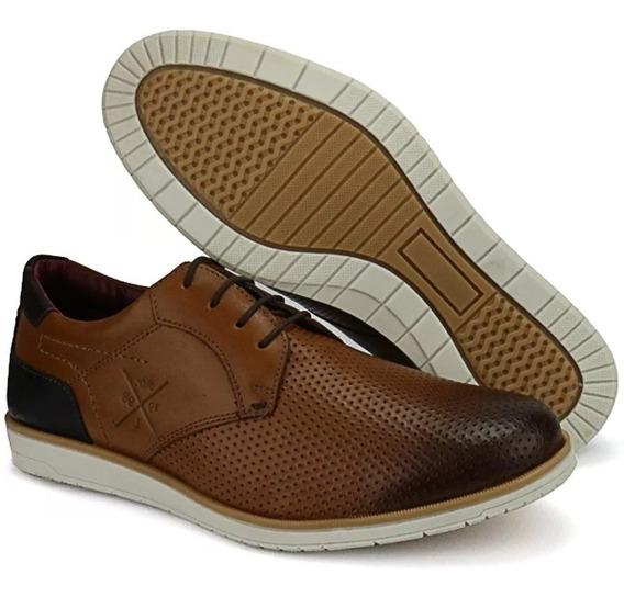 Sapato Oxford Casual Clássico Masculino Em Couro Legitim