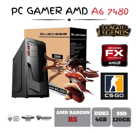 Cpu Gamer Amd A6 7480 4gb Ddr3 - Ssd120gb Radeon R5 Integrada