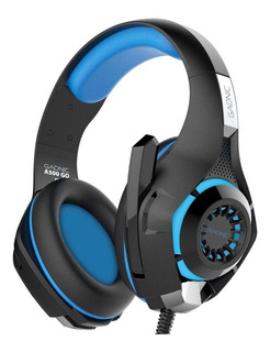 Auriculares gamer Gadnic A500 GO black y blue