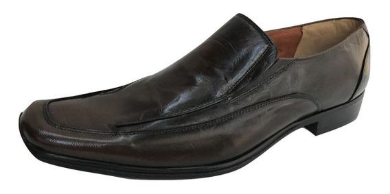 Zapato Casual Mocasin 79145 Piel Vaqueta Hombre Negro Cafe
