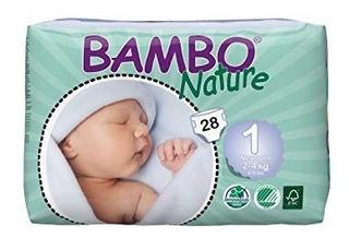 Bambo Nature Premium Pañales Para Bebés, Recién Nacido, Ta