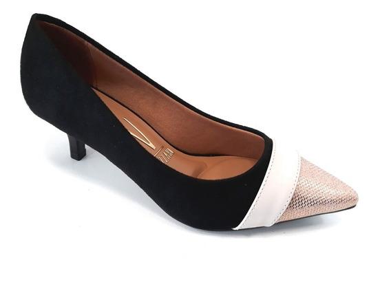 Zapato Vizzano Stilleto Punta Fina Taco 5cm Gamuza/eco Cuero