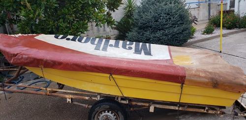 Bote Lagunero Con Motor Y Trailer