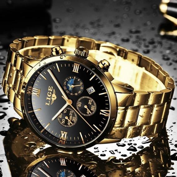Relógio Masculino Luxo Lançamento 2019 Inoxidável Original