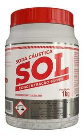 Caixa C/ 12 Und Soda Cáustica Sol 1kg - [frete Grátis]