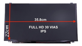 Tela 15.6 Led Slim Ips Full Hd 30 Pinos Nv156fhm-n42