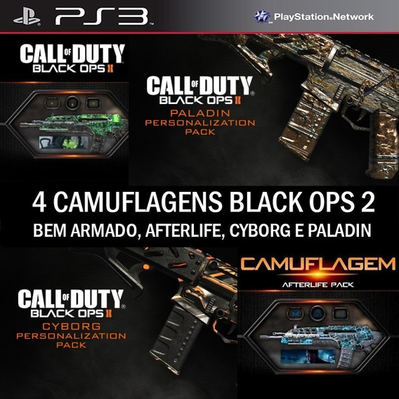 Camos Afterlife Weaponized Cyborg Paladin Cod Bo2 Br - Ps3