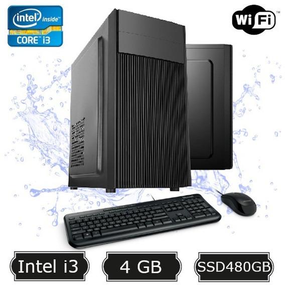 Computador Desktop I3 2100 4gb Ssd 480gb Wifi + Kit Sata