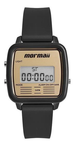 Relógio Unissex Mormaii Vintage Preto - Original