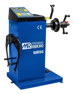 Balanceadora De Rodas Manual Azul Maquinas Ribeiro-mr50