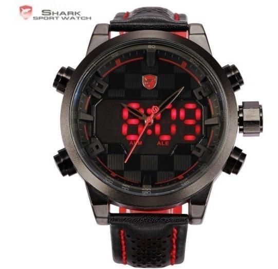 Relógio Masculino Digital Analógico Shark Aprovad