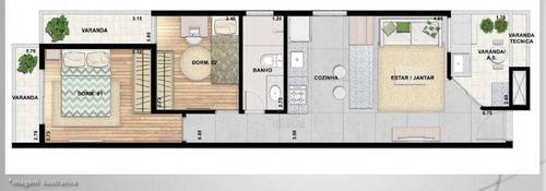 Apartamento Com 2 Dormitórios À Venda, 50 M² Por R$ 340.000,00 - Parque Das Nações - Santo André/sp - Ap12407
