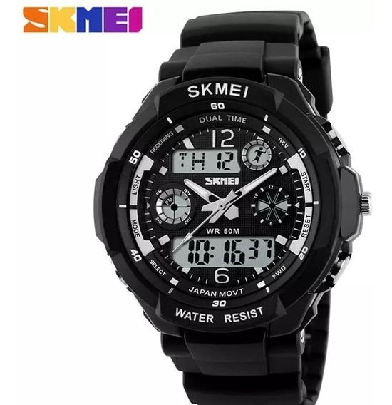 Relógio Esportivo Skmei 0931 Masculino Preto/prata