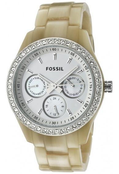 Relógio Fossil Feminino Marfim Modelo Es2455