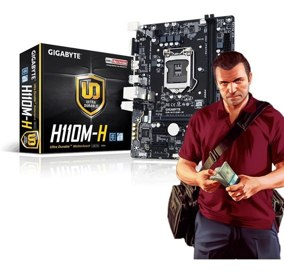Kit Gamer 7ªgeração - I3 7100 Placa Mãe H110m-h Ddr4 8gb Ram
