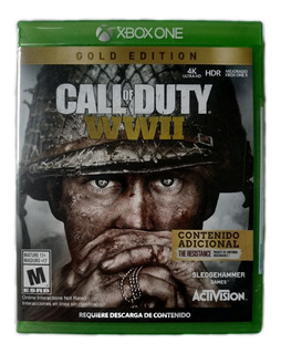 Call Of Duty World War 2 Ww2 Xbox One Gold Edition Nuevo