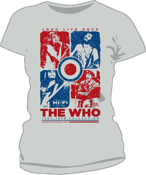 Remera Mujer Modal Premium The Who Estampada Full Color