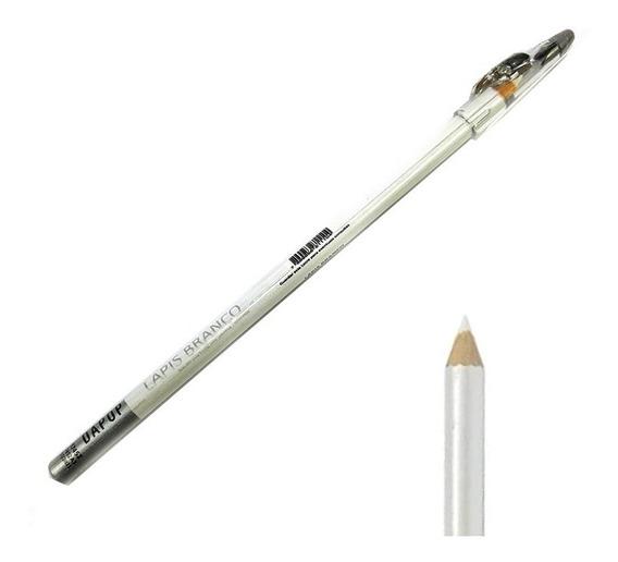 Kit 12 Lápis De Olho Com Apontador Branco/ Preto/ Marrom