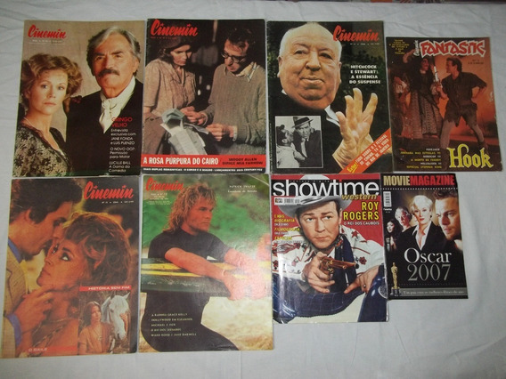 Lote C/ 8 Revistas Sobre Cinema - Cinemim, Showtime - A73