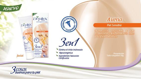 200 Gr Crema Depilatoria Facial Depilex Avena