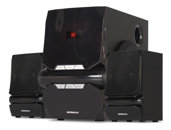 Home Theater 2.1 Sistema Caixa Som Bluetooth Tv Usb Aux 50w