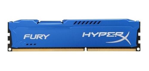 Memoria Ram Kingston Hyperx Fury Blue, 4gb, Ddr3, 1600mhz