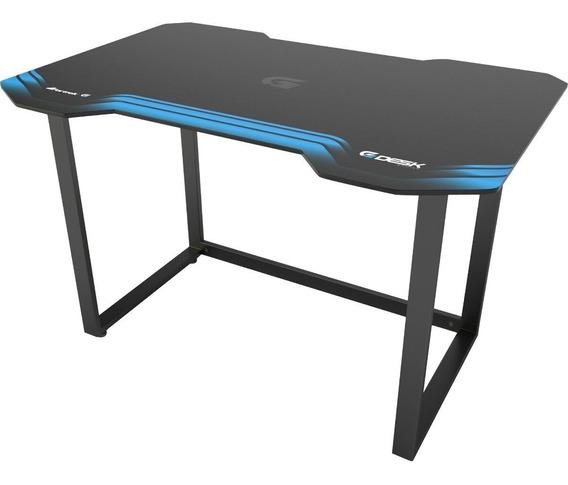 Mesa Gamer Azul Preta Hmg01 Fortrek Multiuso