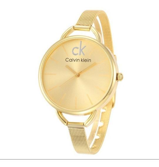 Relógio Feminino Dourado Calvin Klein