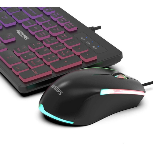 Kit Teclado Y Mouse Gamer Iluminado Philips G264 - Revogames