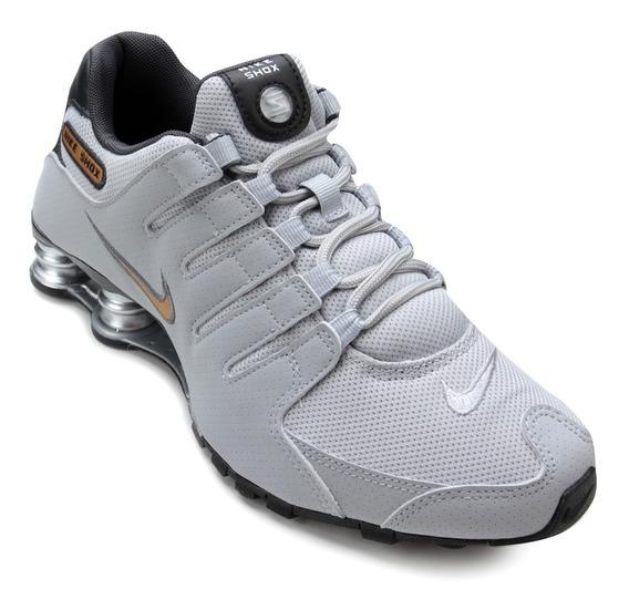 Tenis Nike 378341 12/2018 Shox Nz Cinza/preto