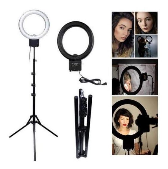 Luminador Led Ring Light Foto Make Kit Com Tripé + Brinde