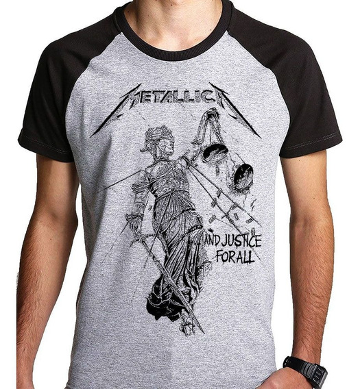 Camiseta Metallica Justice For All Camisa (banda Rock) Blusa
