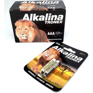 Pila Aaa Alkalina Tronex Caja X 20 Baterias De 1,5 Voltios