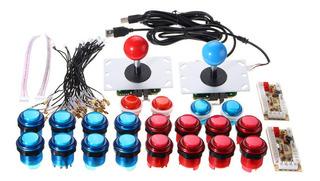 2x Arcade Mame Diy Kit De Piezas De Botones Pulsadores Joyst