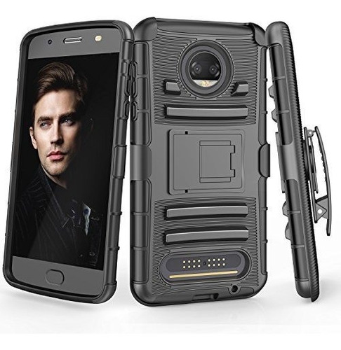Moto Z2 Force Case Till Knight Armour Heavy Duty Fullbody Fu