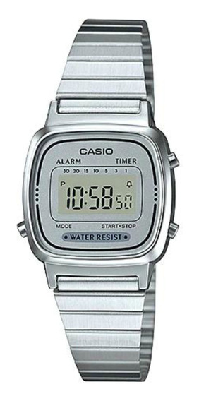 Reloj Casio Mujer Plateado La670wa-7sdf