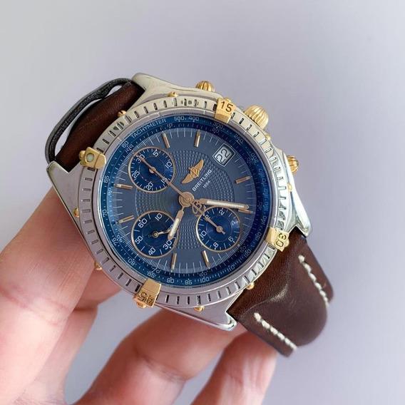Breitling Chronomat Ouro & Aço 40mm Automatico