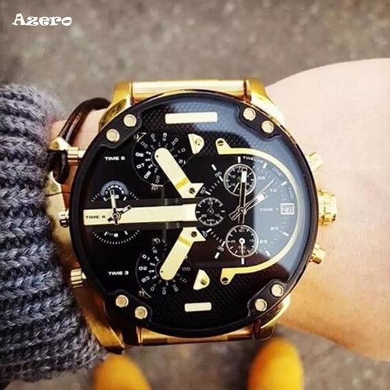 Relógio Sporte Luxo Analógico Inox